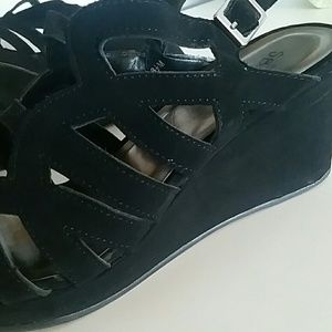 Sbicca Shoes - Sbicca strappy black wedge heels 2.5""